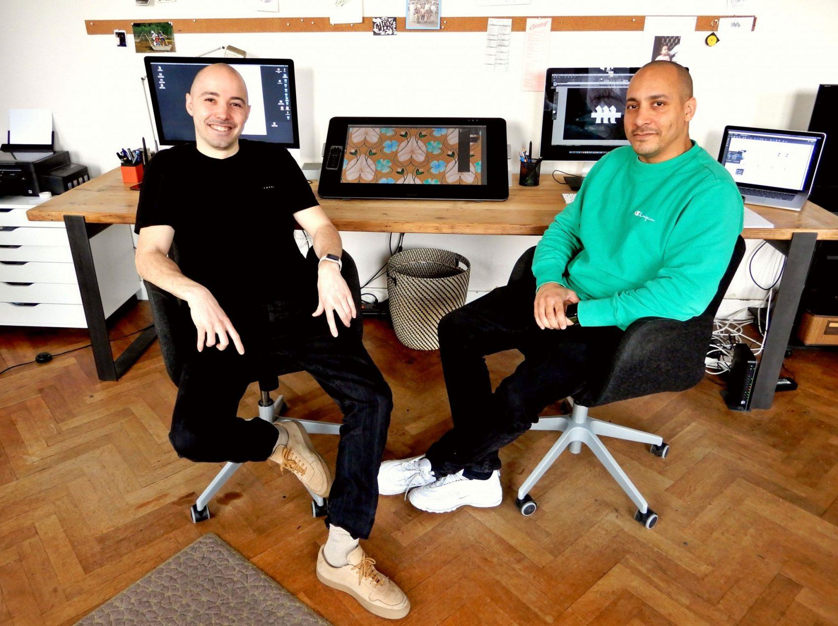 Vincent en Olivier zijn grafisch ontwerpers
